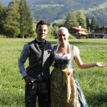 Wolf-Thomas Karl mit Germany's Next Topmodel Kandidatin und Entertainerin Sarah Knappik
